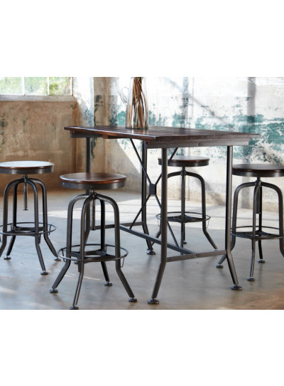 Industrial Strength Classic Vintage Tall Gathering Table  by Hashleich Design